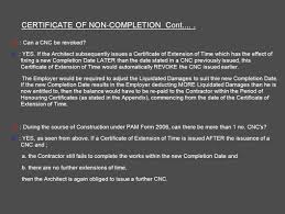 Architect S Certification Under The Pam Contract 2006 Prepared By Ar