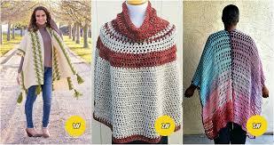10 free stunning crochet poncho patterns