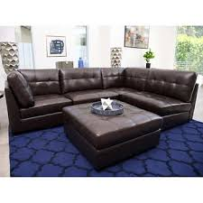 brown leather sectional couches. Brilliant Brown Calvin 5piece Top Grain Leather Modular Sectional On Brown Couches