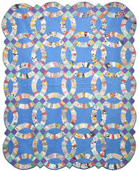 Double Wedding Ring quilt – c. 1930, very rare – most were made on ... & Double Wedding Ring quilt – c. 1930, very rare – most were made on Adamdwight.com