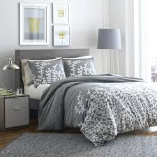 grey comforter cover the gray barn grey branches printed 3 piece comforter set light grey duvet