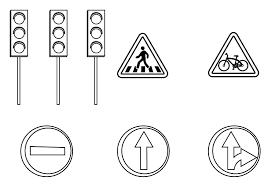 Tranh tô màu biển báo giao thông đơn giản nhất cho bé tập tô