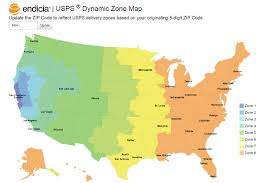 36 Full Priority Mail Zone Map