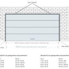 garage door header span table commercial garage door sizes s size chart overhead lvl garage door