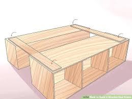 homemade wood bed frame image titled build a wooden step plans diy full