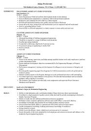 Assistant Chief Engineer Resume Samples Velvet Jobs