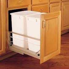 Kitchen Cabinet Garbage Can Double Pull Out Trash Containers Cabinetpartscom
