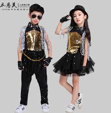 Boys Drum Show Clothes Children Jazz <b>Dance Hip hop Street</b> ...