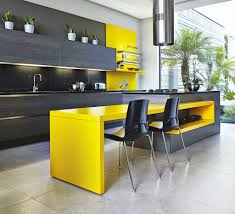 Yellow And Brown Kitchen Furniture Yellow And Black Kitchen With Yellow Kitchen Cabinet