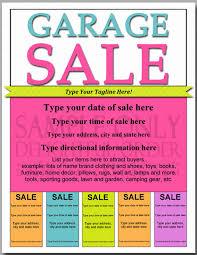 benefit flyer templates garage sale flyer template free 50 new free benefit flyer templates