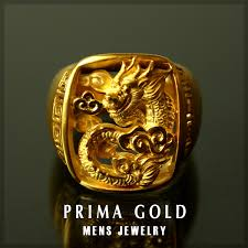 pure gold men dragon mark stand ring gold k24 yellow gold primagold rakuten ranking first place acquisition