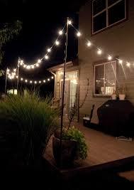 outdoor deck lighting. Hanging Backyard String Lights Ideas Also Attractive Outdoor Deck Lighting Images