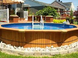 in ground pools cool. Ways To Camouflage An Above Ground Pool | Cool Way Hide The Ugly Siding Of In Pools A
