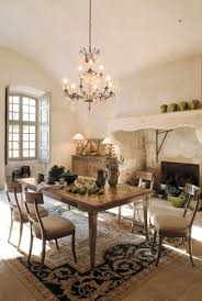 Baroque Style Dining Room Oversized Fireplace Mantel