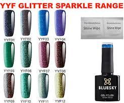 Bluesky Glitter Sparkle Yyf Colour Range Nail Gel Polish Uv