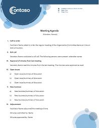 how to make a agenda agendas office com