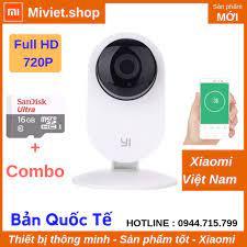 Camera Giám Sát Yi Home 720p HD Quốc Tế - Thẻ nhớ 16G - Chính Hãng -  Miviet.shop