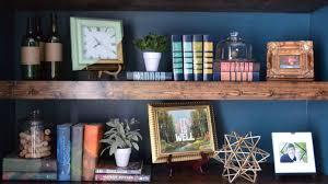 master bedroom floating bookshelves reveal