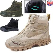 Details About Men Army Military Tactical Shoes Hiking Outdoor Sports Desert Combat Boots Size