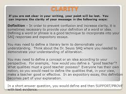 rhetoric the study or skill of writing or speaking as a means of 17 clarity