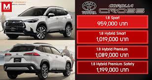 ราคาอย่างเป็นทางการ Toyota Corolla Cross เอสยูวีพื้นฐาน Altis  เปิดตัวในไทยที่แรกของโลก | MagCarZine.com | ข่าวสารยานยนต์  ให้คุณรู้จริงก่อนใคร