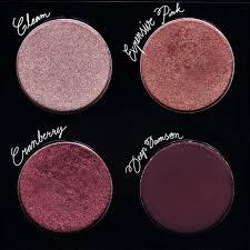 mac custom eyeshadow palette in gleam expensive pink cranberry deep damson