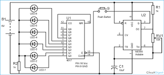 digital dice circuit diagram using ic 555 & ic 4017 adam 4017 wiring diagram at 4017 Wiring Diagram