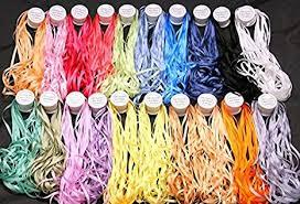 <b>New</b> ThreadNanny 20 Spools of 100% Pure Silk Ribbons - <b>4mm</b> x