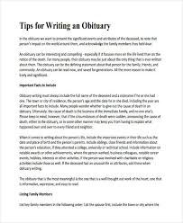 sample of obituary 5 obituary writing examples samples