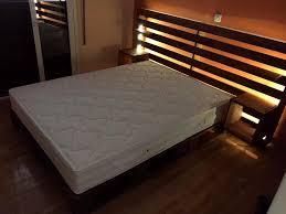 wooden pallets furniture ideas. wooden palled bed with storage headboard pallets furniture ideas