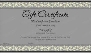 gift certificate for business business gift certificates certificate templates