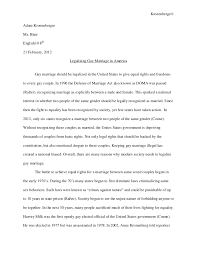 research paper gay marrige