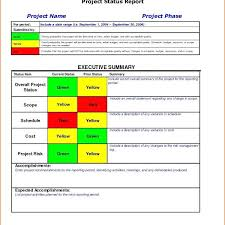Free Project Status Report Template Excel. Free Project Status ...