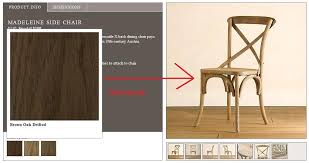 sorry for the blurriness restoration hardware doesn t have any pictures of the chair in the color we want so this was the best i could do