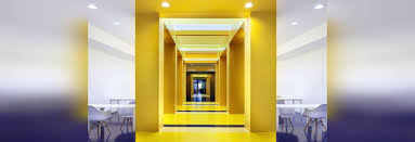 office space colors. Malka Architecture Defines Parisian Office Space With Bold Colors