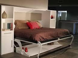 foldable murphy bed desk combo furniture set with elegant white color bed desk set