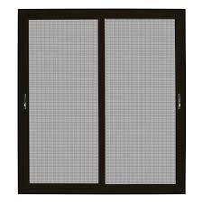 bronze sliding ultimate security patio screen door with meshtec screen