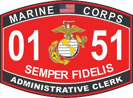 clerk marine corps mos usmc military decal administrative clerk marine corps mos 0151 usmc military decal