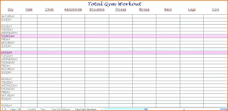 Printable Daily Workout Log Schedule Template Bettylin Co
