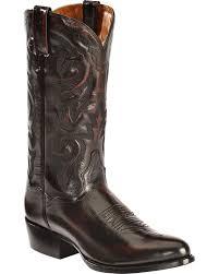 zoomed image dan post mignon leather cowboy boots medium toe black cherry hi res