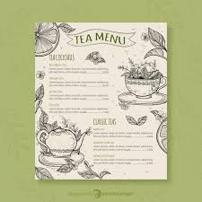 Tea Menu Template With Different Flavors Download Free