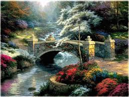 thomas kinkade bridge of hope