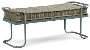 Metal Bedroom Bench Rustic Metal Williamsburg Bed Bench With Cushion By Art