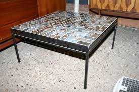 Coffee Table Design Ideas Black Square Vintage Tile Top Coffee Table Design Ideas For Living Room Arrangement Ideas