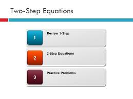 2 two step equations 33 22 11 review 1 step 2 step equations practice problems