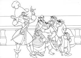 Small Picture Peter Pan Captain Hook Make a Plan to Catch Peter Pan Coloring