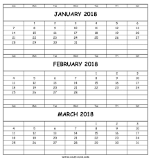 blank march calendar 2018 blank january february march 2018 calendar template three months