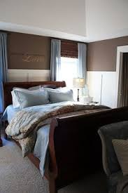 master bedroom love the high bead board chair rail and the