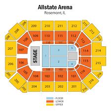Allstate Seating Chart The Lumineers Rosemont Tickets The Lumineers Allstate