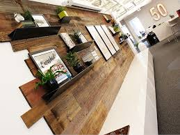 Small Picture Reclaimed Wood Feature Wall and Custom Branded Lightbox Interiors